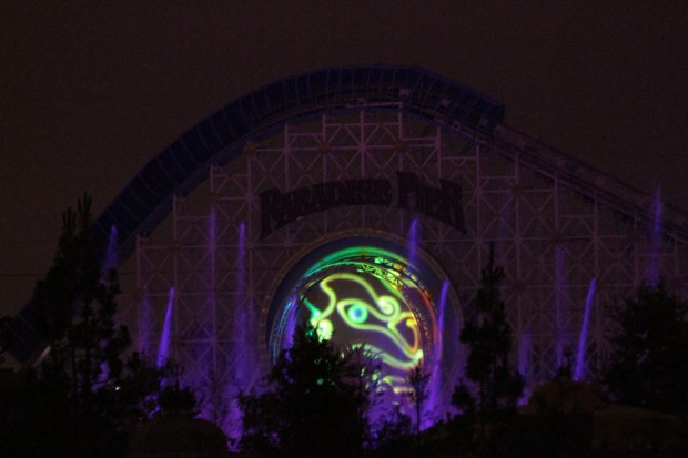 Got back to the room a little while ago and they were testing the Brave segment for World of Color...
