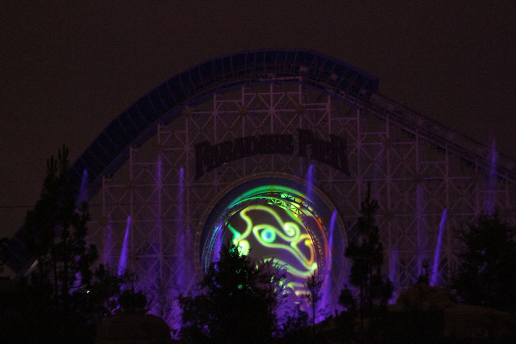 Got back to the room a little while ago and they were testing the Brave segment for World of Color…