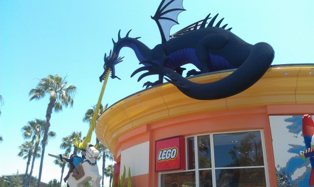 I will be roaming the #Disneyland resort this afternoon.  First up a walk through Downtown Disney, the Lego Store.