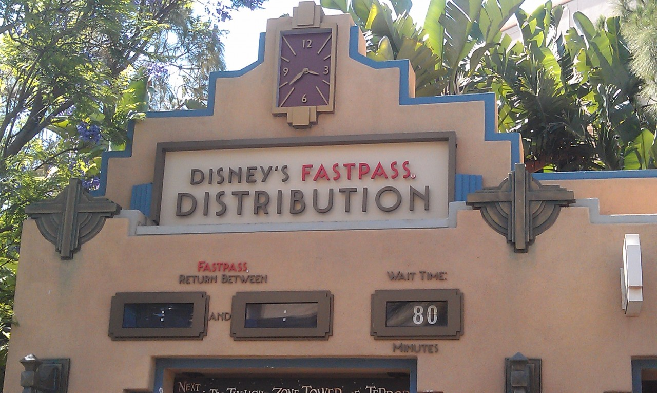 If your goal is to visit the Tower of Terror today be prepared for a long wait and no more Fastpasses