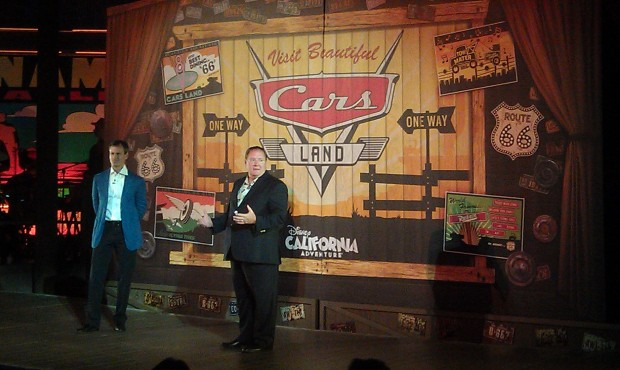 John Lasseter takes the stage