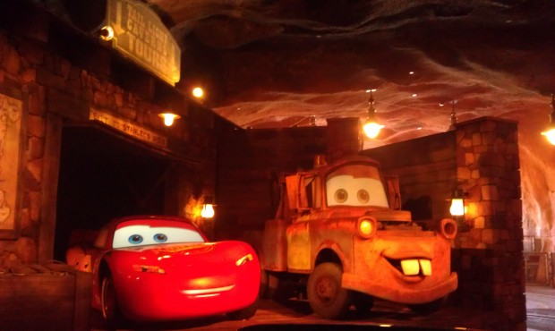 Mater and Lightening at the end of the Racers.