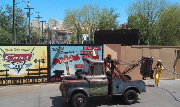 Mater in the Pixar Play Parade.