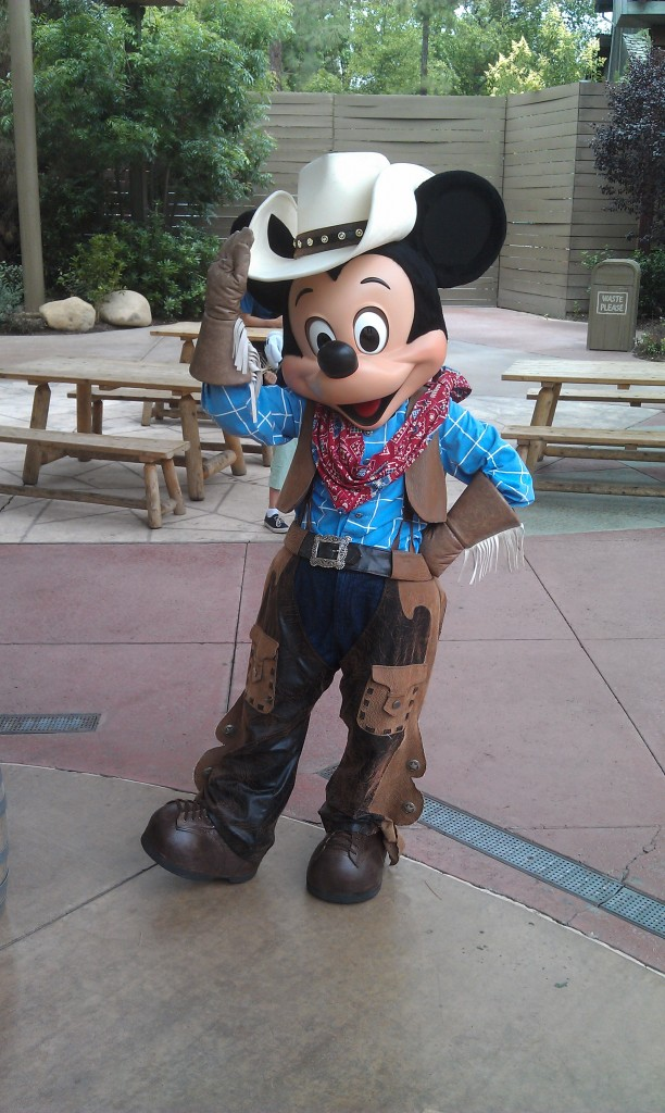 Mickey was out roaming the Jamboree too.