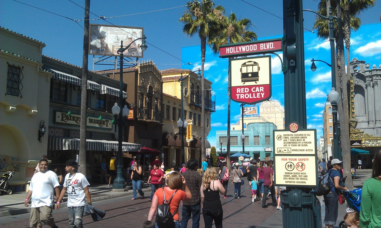 More Red Car Trolley signage, this one one Hollywood Blvd.