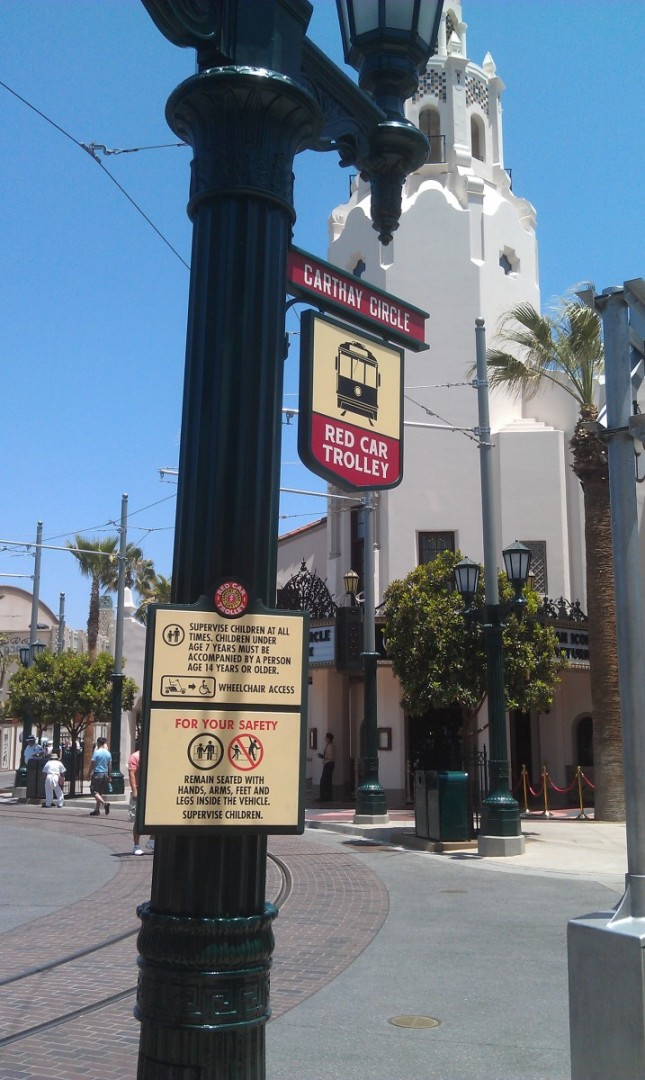 More signage up for the Red Car Trolley on #BuenaVistaStreet this week.
