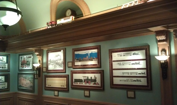 Only a few more weeks to catch the train exhibit in the Disney Gallery.  Next up, castles.