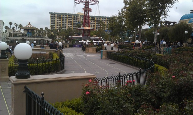 Paradise Park is set up for the queue to expand to next.