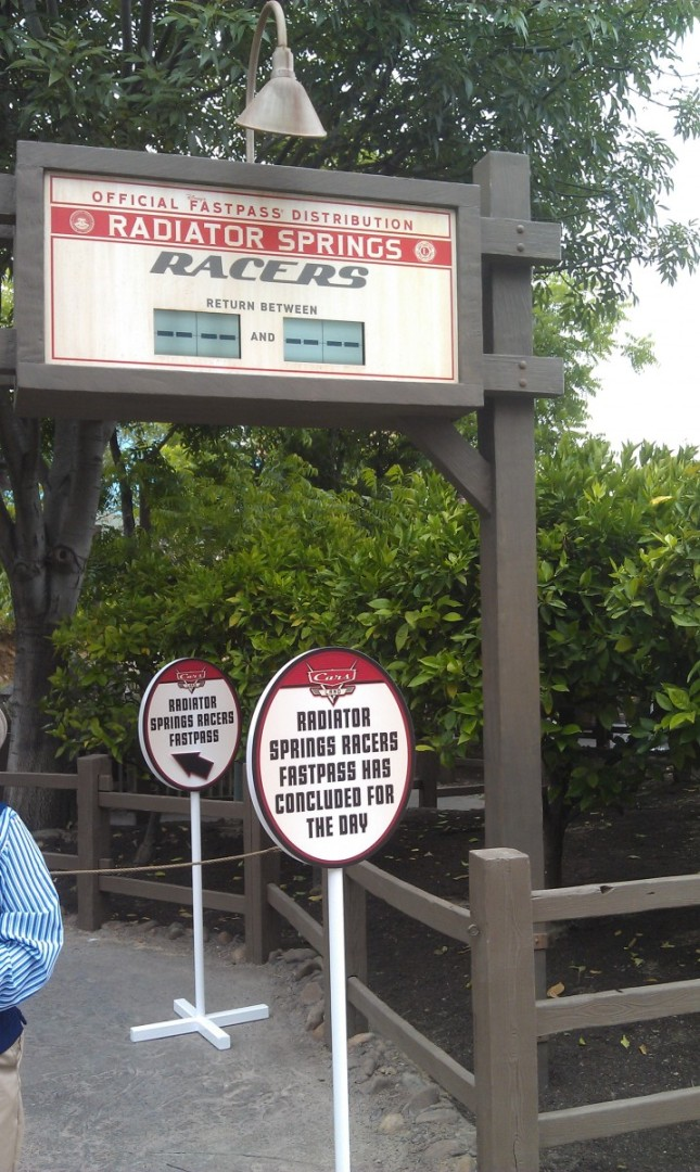 Racer FastPasses are long gone