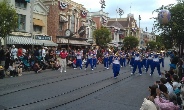 Stop two for the 2012 All American College Band on Main Street.