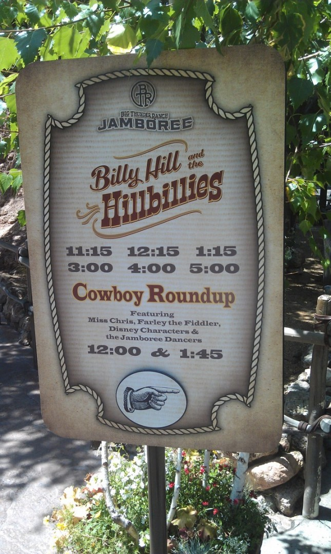 The Billies are now at the Big Thunder Ranch Jamboree.  Here is their schedule.