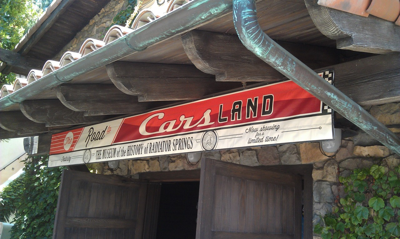 The Blue Sky Cellar Road to #CarsLand now features the Museum of the history of Radiator Springs.