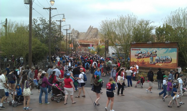 The Blue Sky Cellar view of #CarsLand this morning.