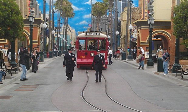 The Red Car News Boys making their way to #BuenaVistaStreet