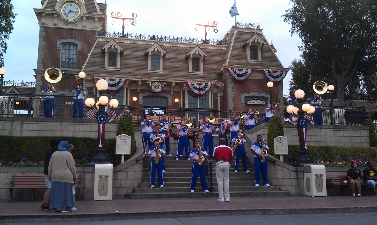 The last All American College Band set of the night on Main Street.