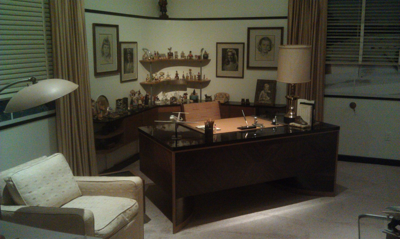 Walts formal office is recreated in the exhibit.