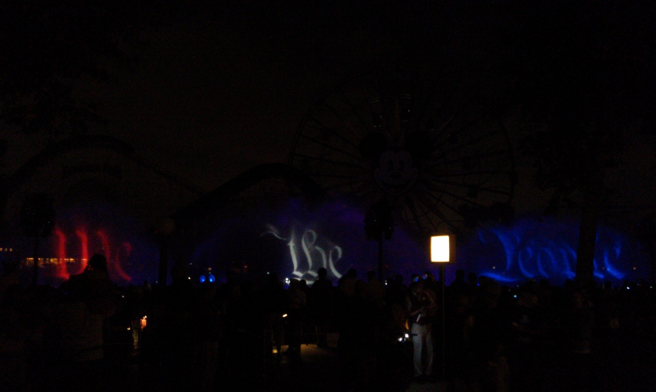 4th of July preshow for World of Color