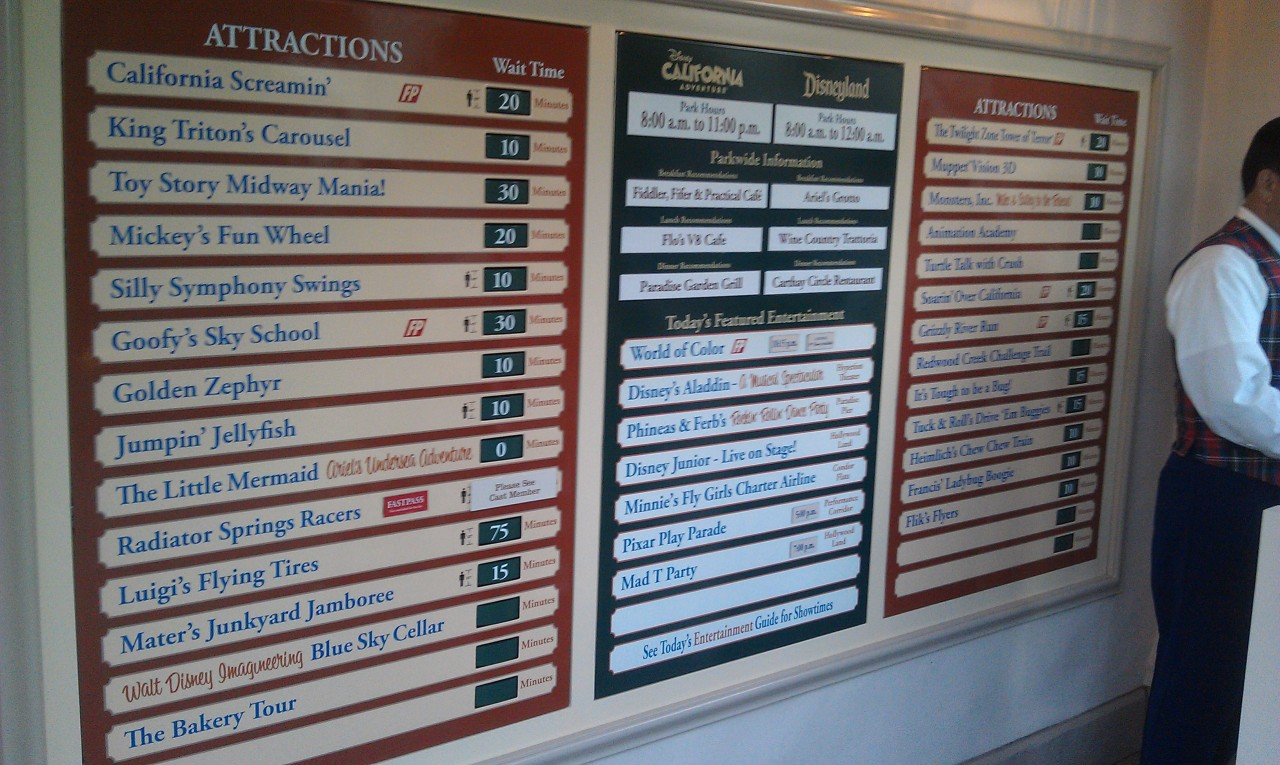 Current DCA wait times