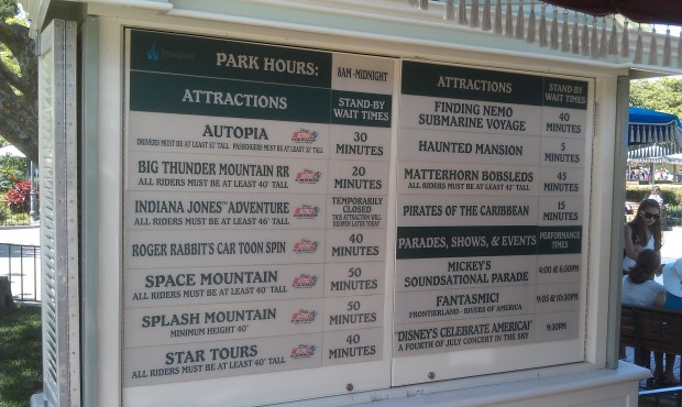 Current #Disneyland wait times.