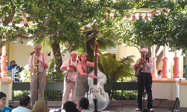 Ellis Island Boys performing at the Paradise Garden Bandstand