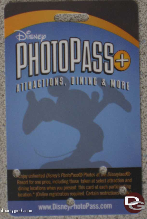 PhotoPass+ Card