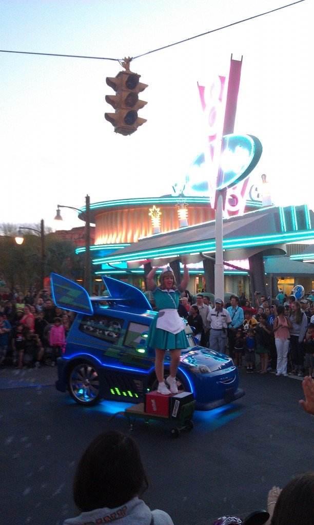 Stopped by #CarsLand DJs dance n drive going on