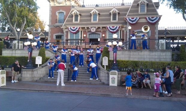 Time for the All American College Band on Main Street