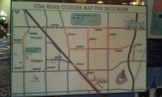 A road closure map for the race.