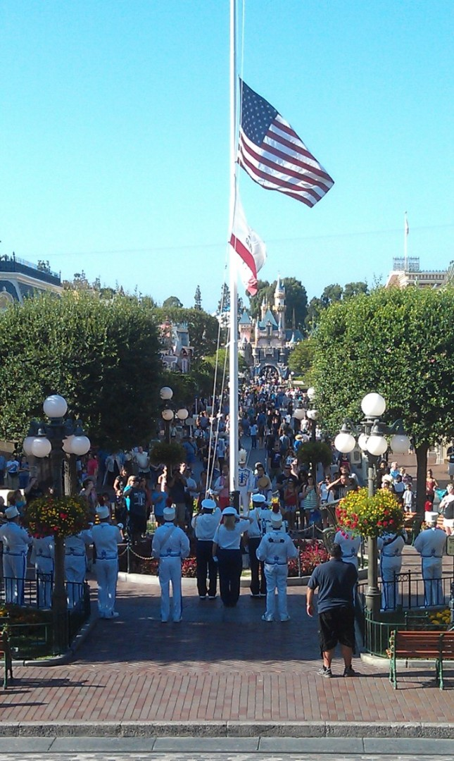 Also caught the Flag Retreat at #Disneyland
