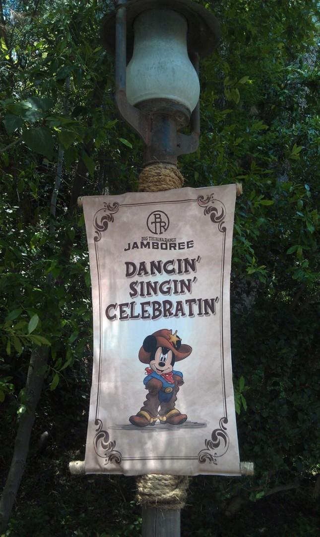 Another Jamboree sign, this one featuring Mickey.