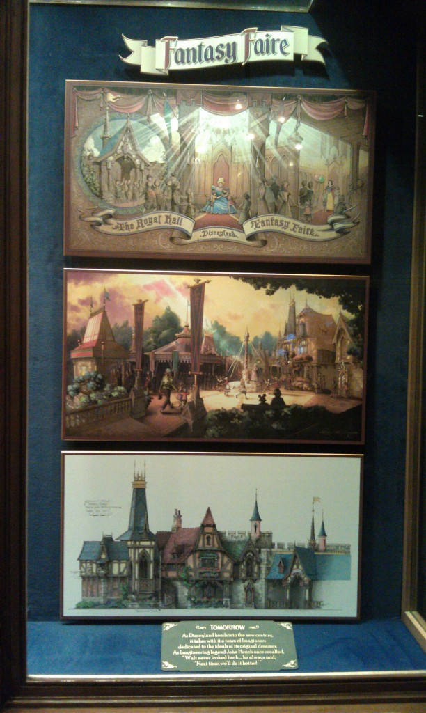 Concept art for the Fantasy Faire is now in the tomorrow section of the case in the opera house lobby.