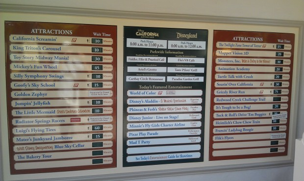 Current DCA wait times.