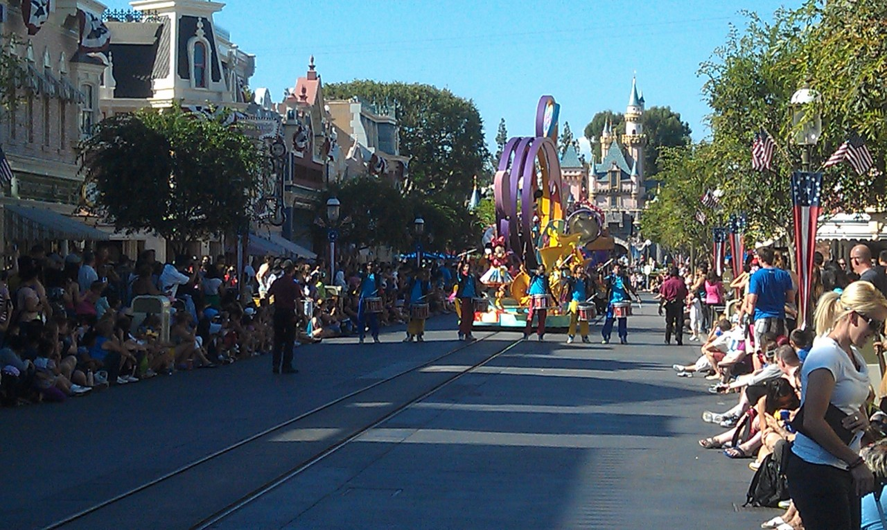 Entered #Disneyland as Soundsational was making its way down Main Street