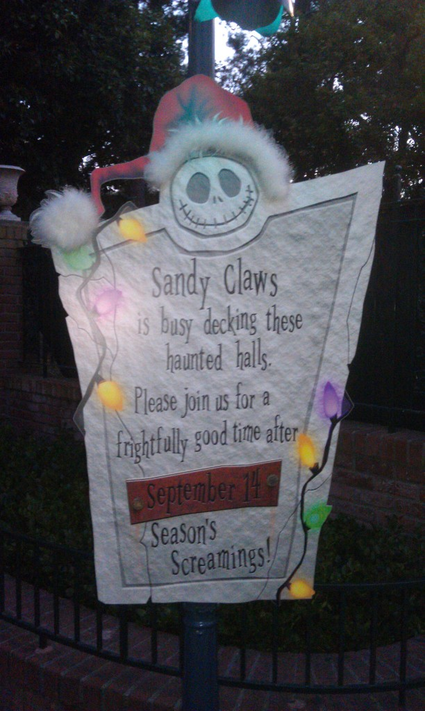 Haunted Mansion reopens Sept 14th for the Holiday season