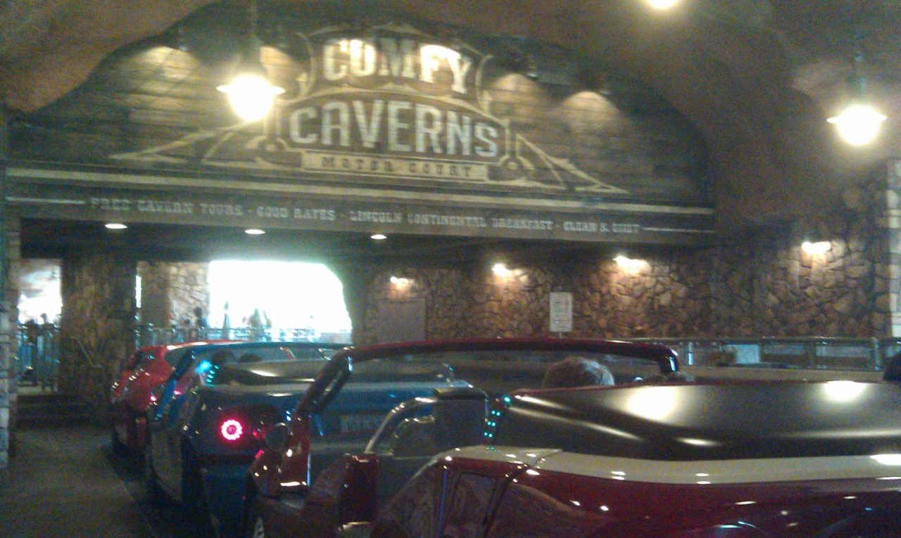 Heading back to Comfy Caverns after winning our race in #CarsLand