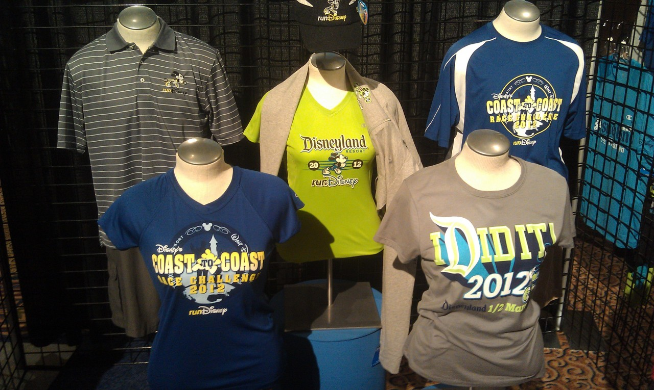 Some of the official merchandise that is on sale for the race.