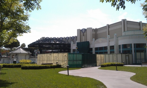 Starting off today walking through Downtown Disney.  First up a look at Earl of Sandwich progress.