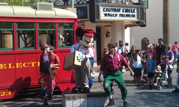 Suitcase and a Dream with the Red Car Newsboys on #BuenaVistaStreet