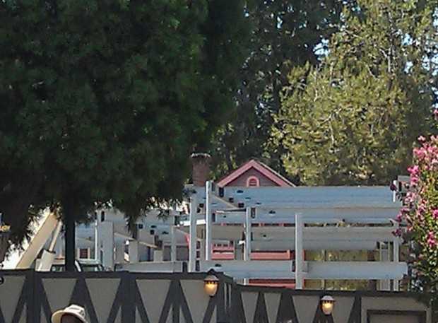 The structure for the new Princess Faire is starting to take shape.