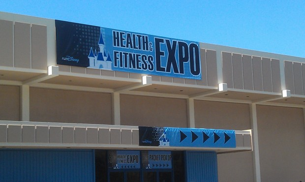 There is a health and fitness expo at the Disneyland hotel convention center today and tomorrow.