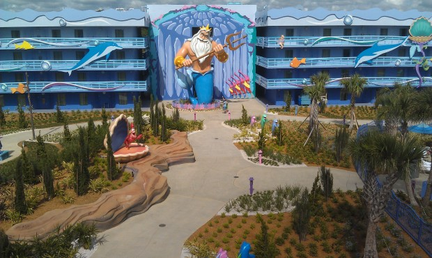 Another of the Little Mermaid area.