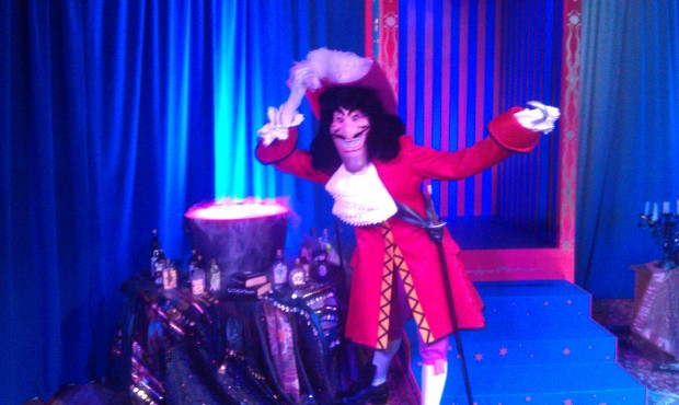 Captain Hook was by the astounding cauldron of magic