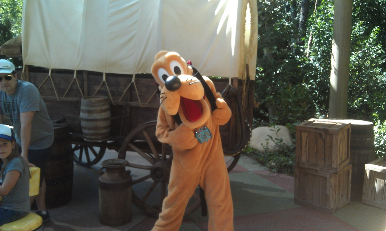Characters out with their Halloween costumes one.  First up Pluto.