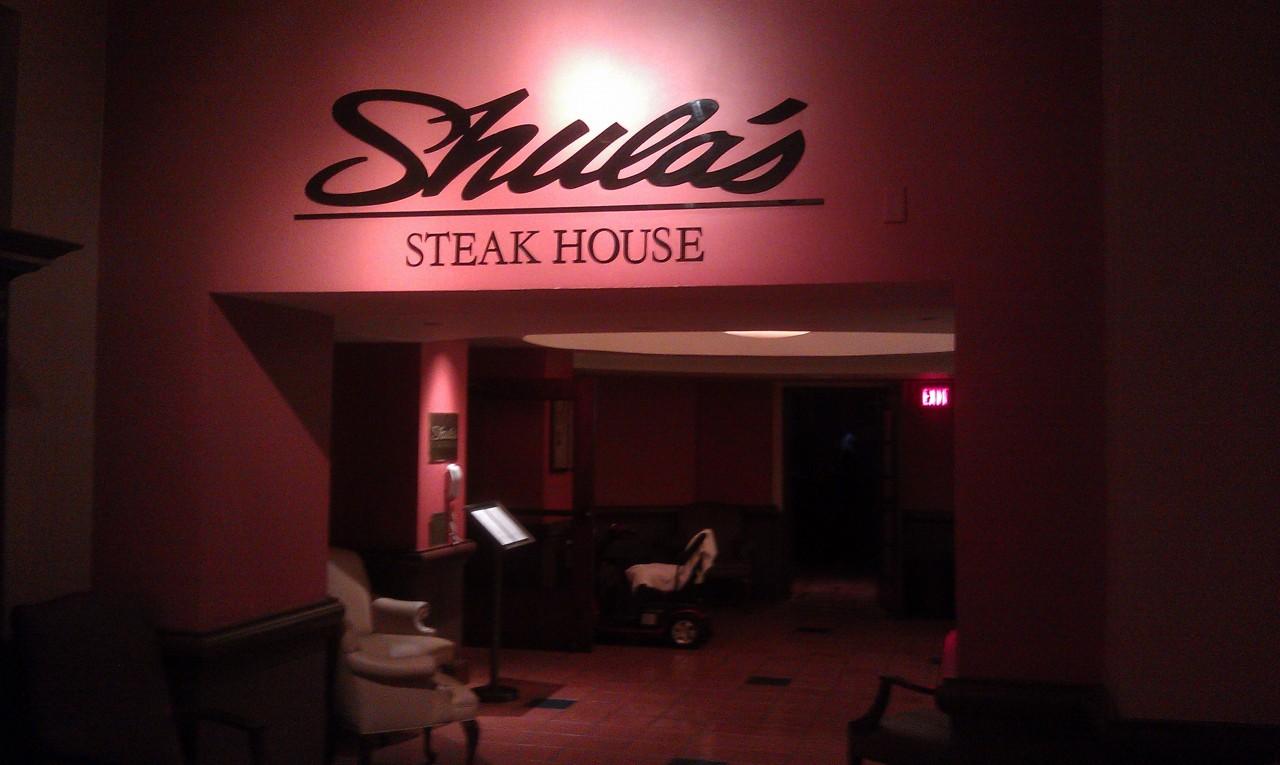 Dinner at  Shulas tonight