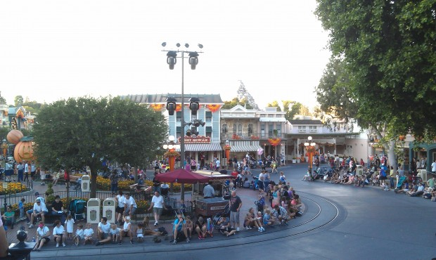 Guessing these lights in Town Square are for the Halloween parties.