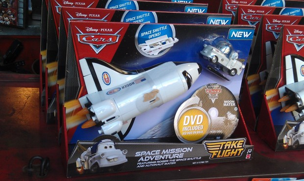 Noticed this space shuttle toy front and center in the Fly n Buy today.
