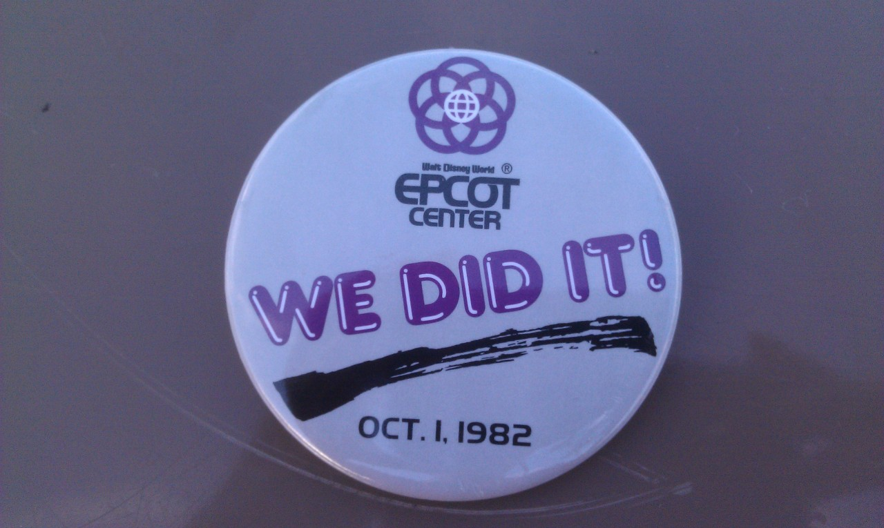 On the way our of tge #d23epcot30 event we were given this button