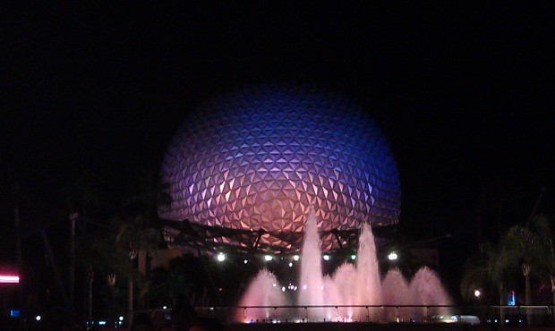 Random Spaceship Earth picture as I head for the bus.