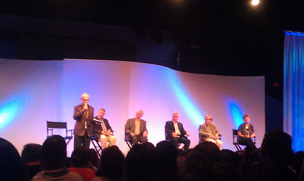 Ron Logan leading a panel on entertainment titled We've Just Begun to Dream at #d23epcot30