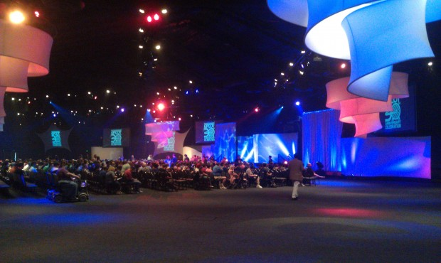 Waiting for the #EPCOT30 event to begin